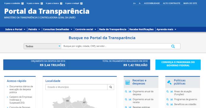 Portal da Transparência sai do ar após reportagem sobre gasto com alimentos